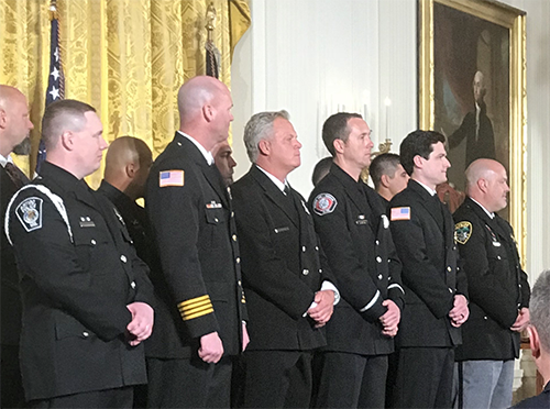 NAEMT attends prestigious White House Ceremony to honor first responders